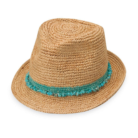 Tahiti-Turquoise__We have many summer hats for women with short hair, like the Tahiti.