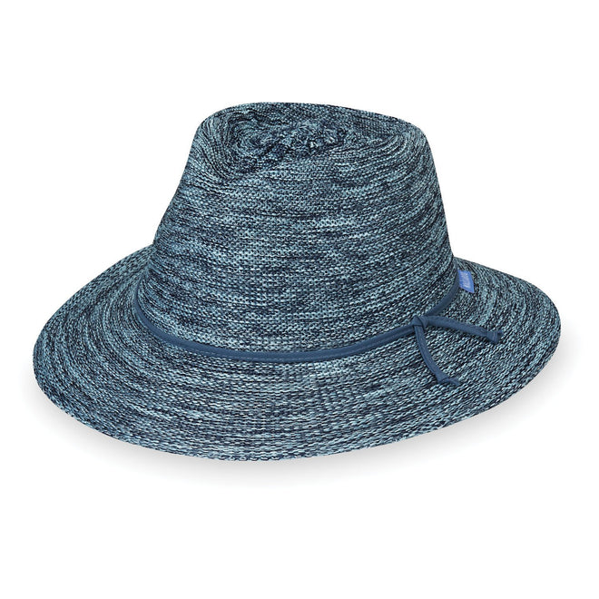 Victoria Fedora-Mixed Denim