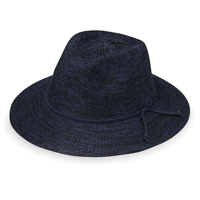 Victoria Fedora-Mixed Navy