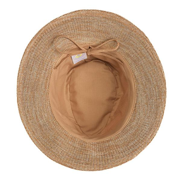 This mixed camel or tan fedora hat can be adjusted to fit your head better.