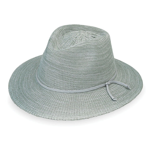 Victoria Fedora-Seafoam__Wallaroo Hats Women's Victoria Sun Hat in Seafoam__This straw fedora women's hat is a great choice for a sunny day.
