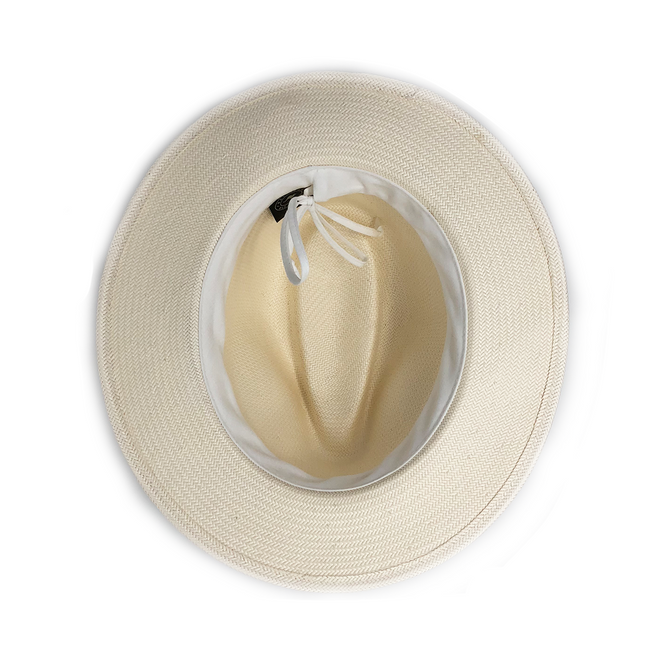 The Monterey sun hat is made of 100% Japanese Glazed Paper.