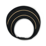 Savannah Visor-Black/Camel Stripes