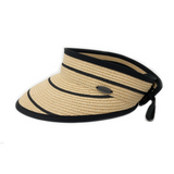 Savannah Visor-Camel/Black Stripes