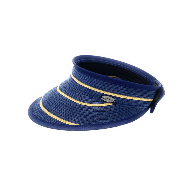 Savannah Visor-Navy/Camel Stripes