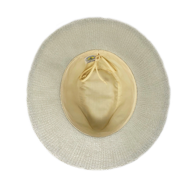 This natural or tan fedora hat can be adjusted to fit your head better.
