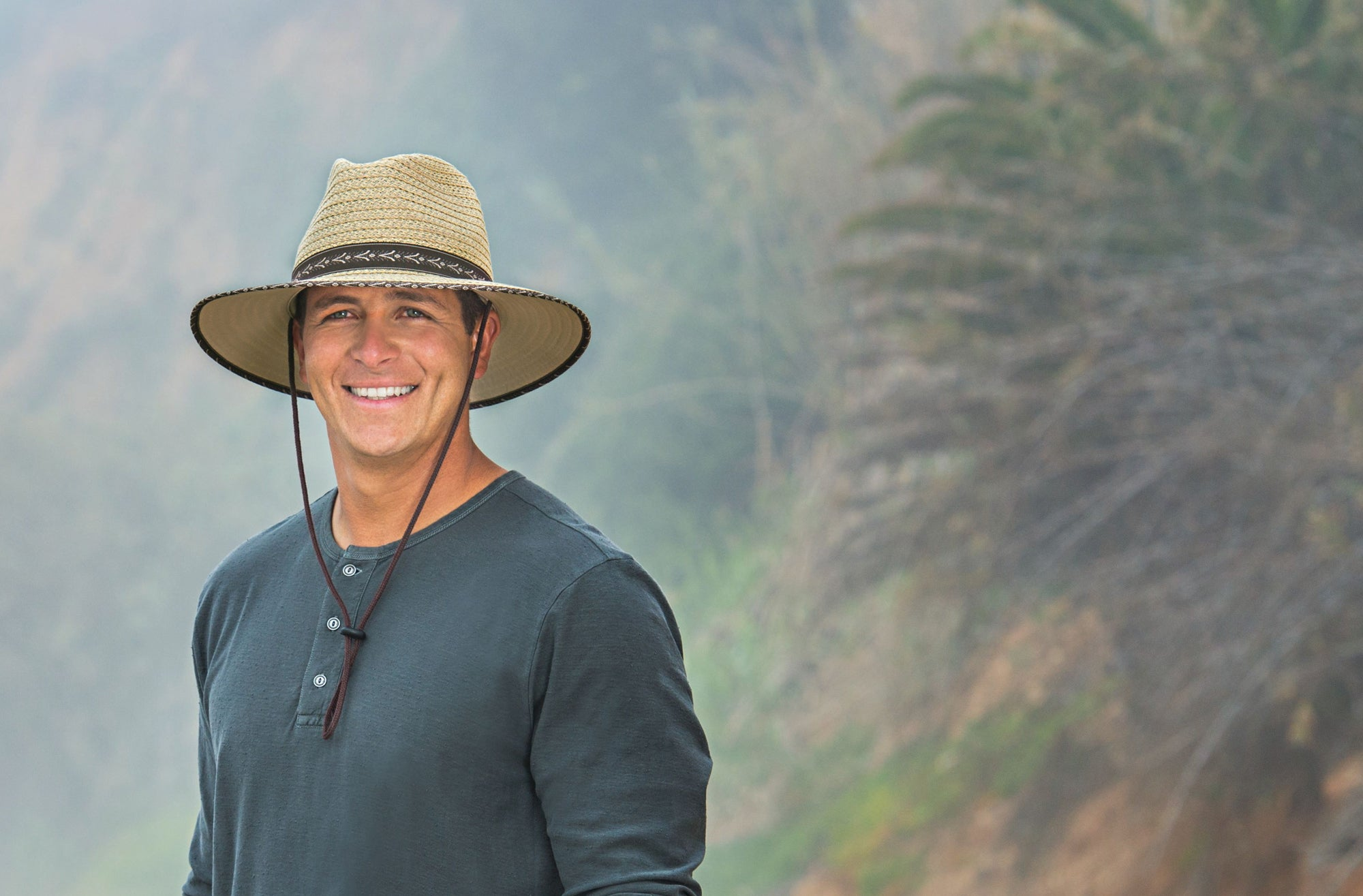 Lifestyle image of someone wearing the Cabo.