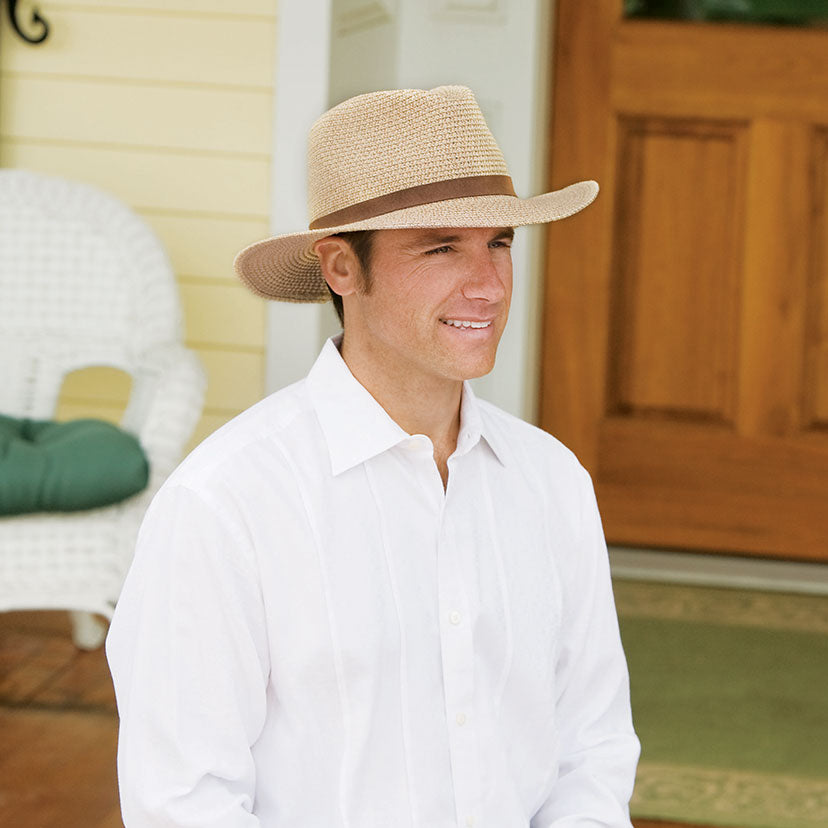 Lifestyle image of someone wearing the Outback.