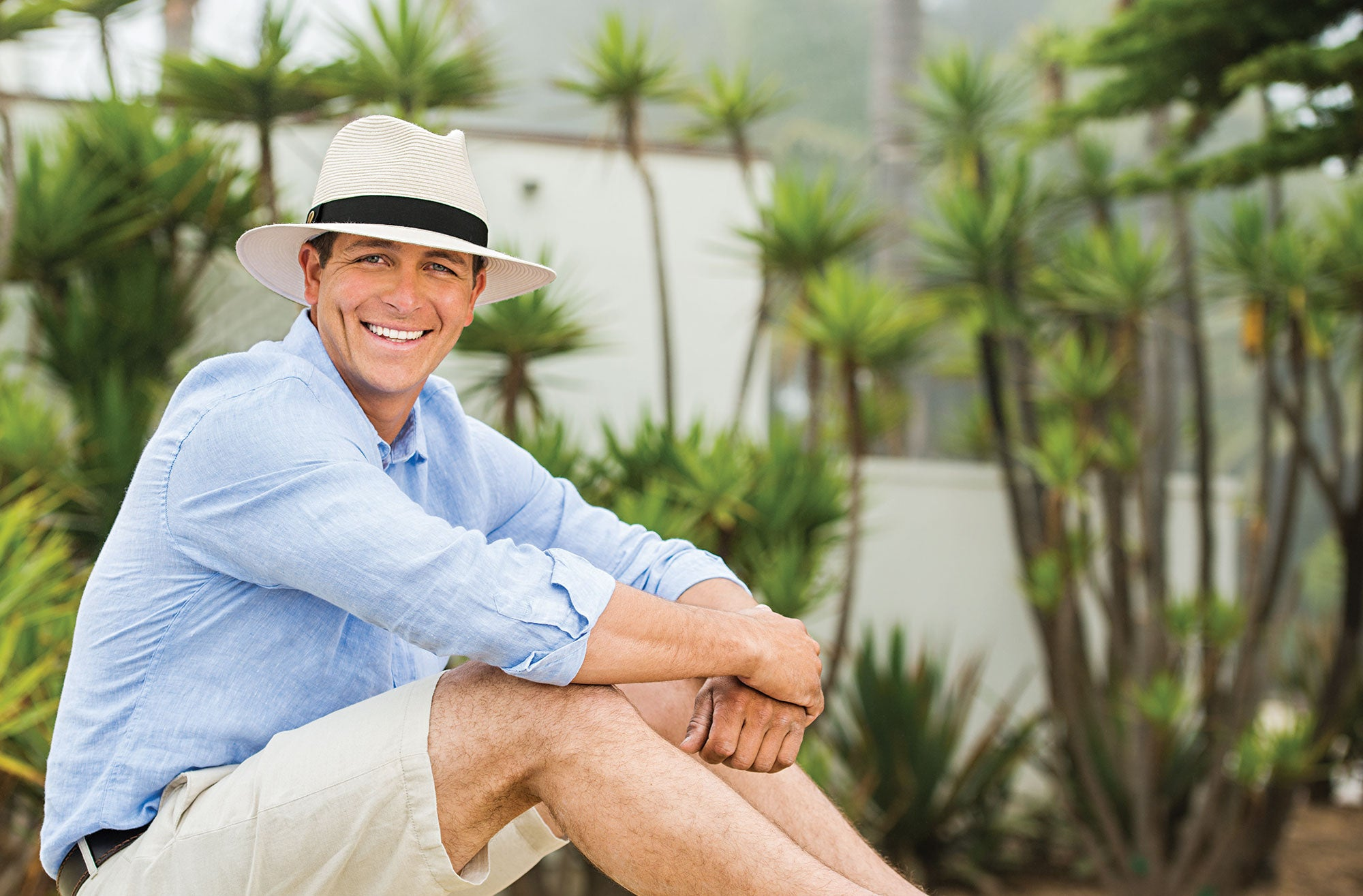 Lifestyle image of someone wearing the Palm Beach.
