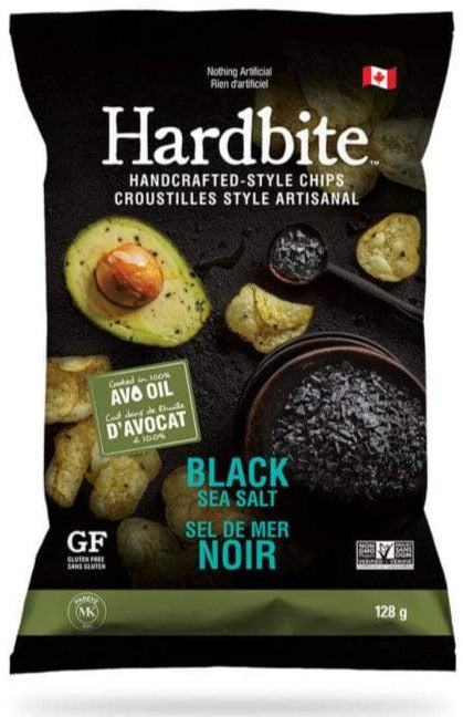 Avo Oil Black Sea Salt Handcrafted Chips by Hardbite 128g