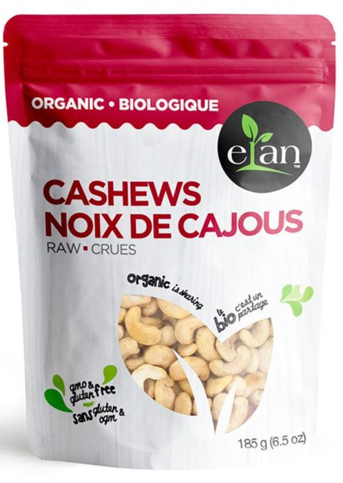 Raw Cashews by Elan 185g Organic