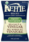 Sea Salt and Vinegar Organic Potato Chips by Kettle Brand 142g