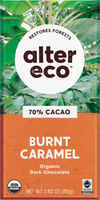Organic Burnt Caramel Salted 70% Dark Chocolate Bar by Alter Eco 80g