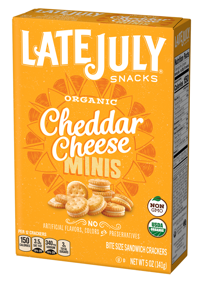 Organic Cheddar Cheese Minis by LATE JULY 141g