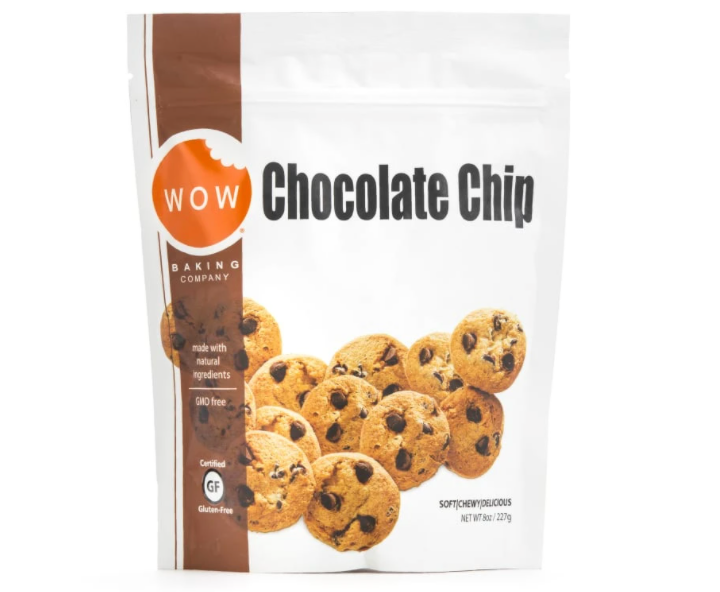 Chocolate Chip GMO free Gluten Free Cookies by WOW 227g