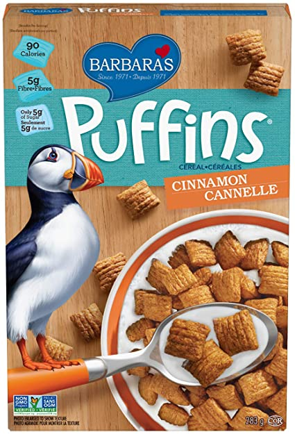 Cinnamon Puffin Cereal by Barbara's 285g