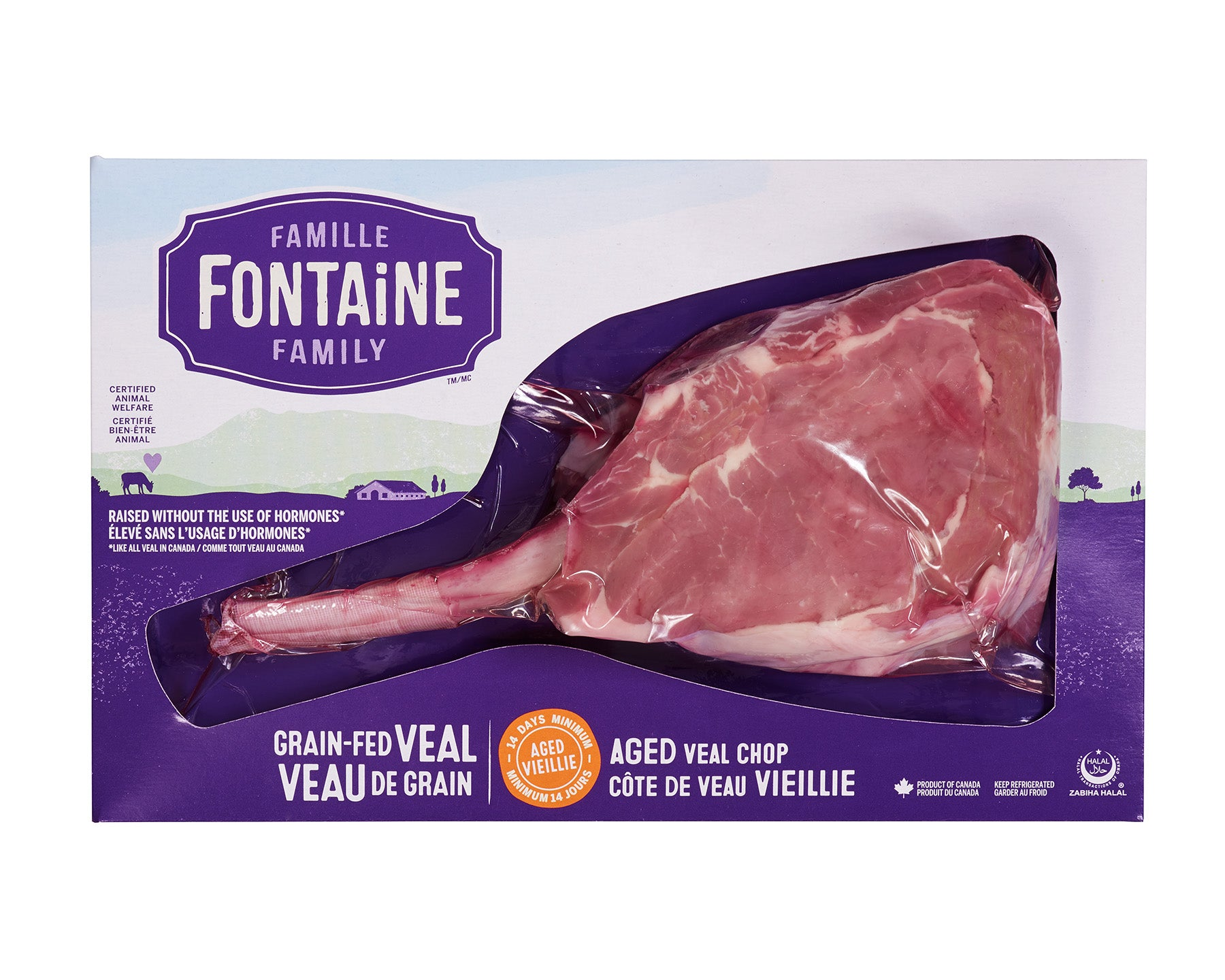 Aged Grain Fed Veal Chop by Famille Fontaine ~375g