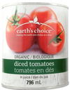 Organic Diced Tomatoes by earth's choice 796ml
