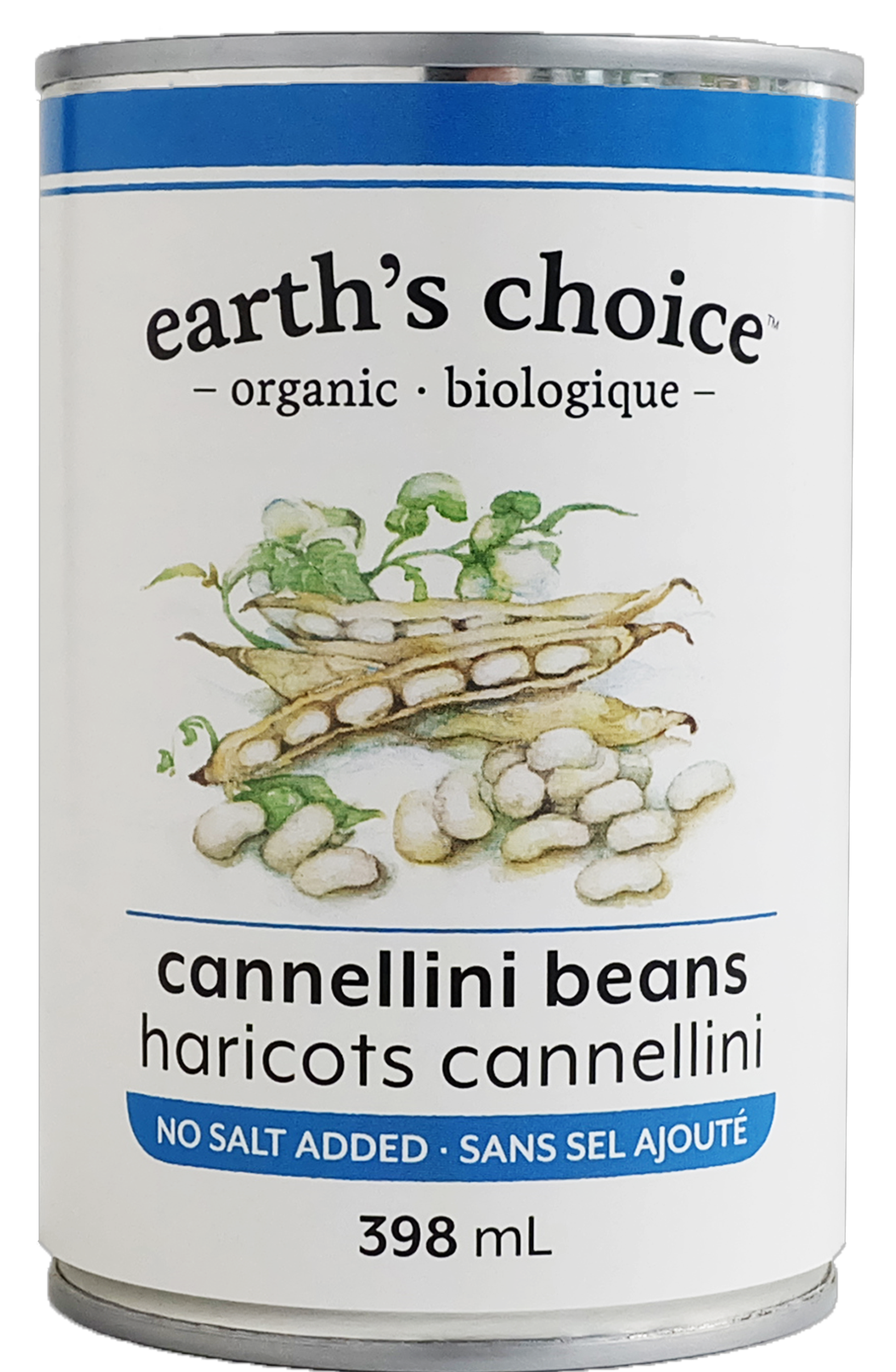 Cannellini Beans by earth's choice, no salt added, 398ml, Organic