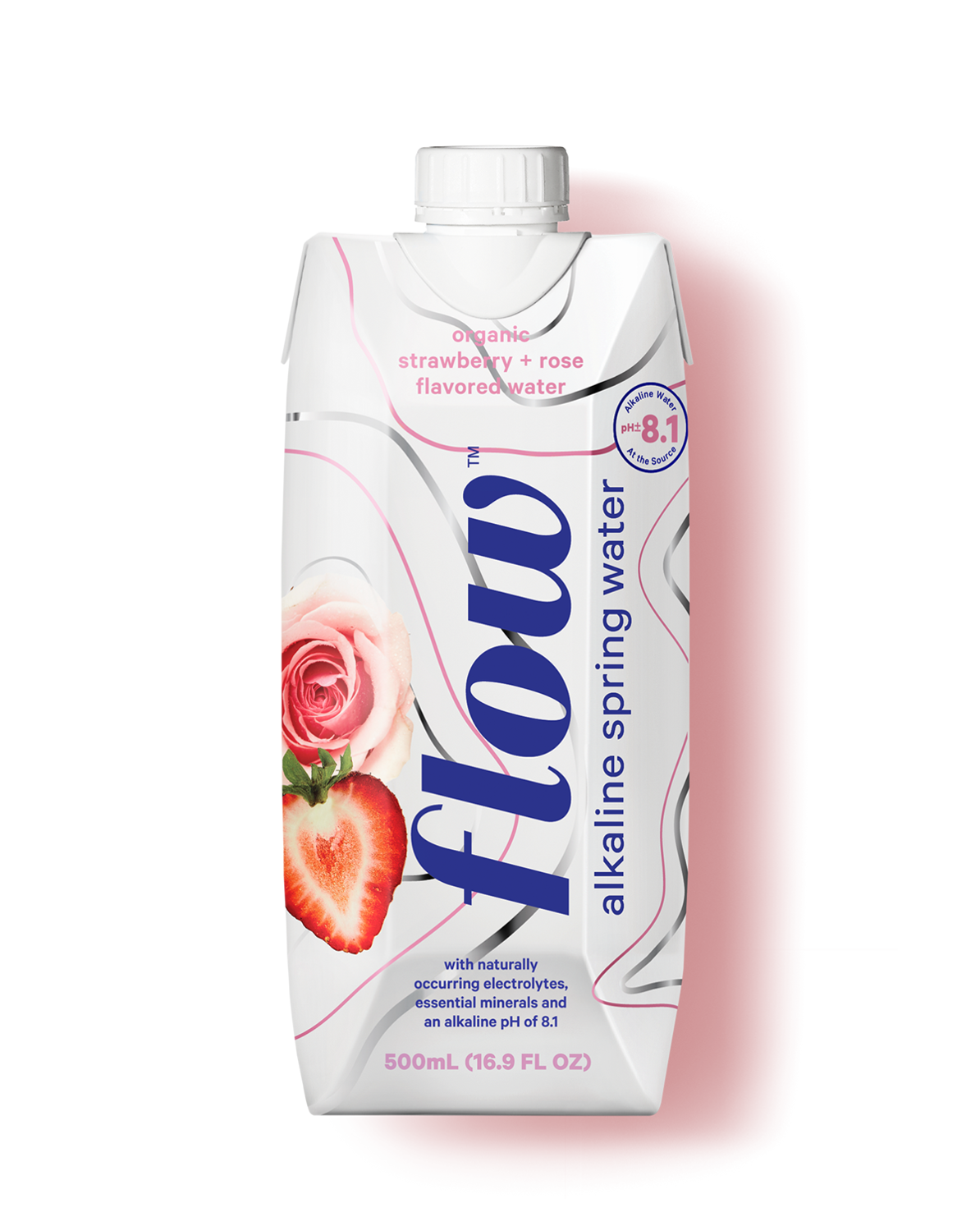 Strawberry + Rose Alkaline Spring Water 500ml by Flow