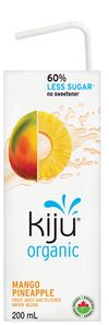 Mango Pineapple Fit Juice with 60% Less Sugar by Kiju 4x200ml