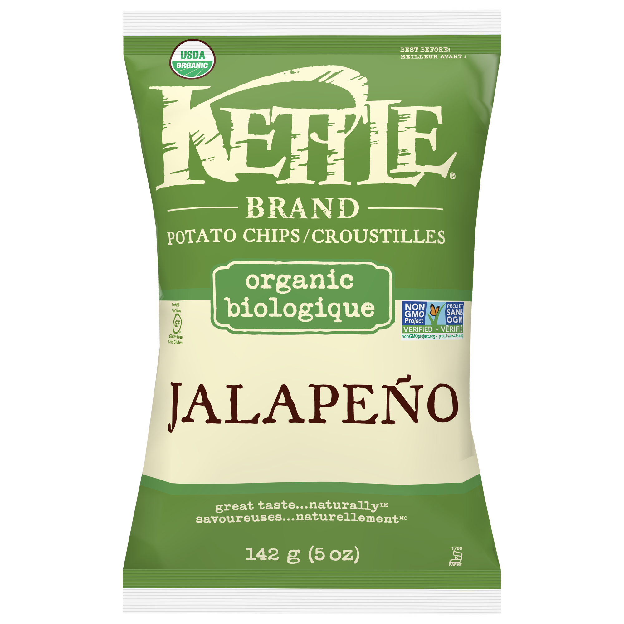Jalapeño Organic Potato Chips by Kettle Brand 142g