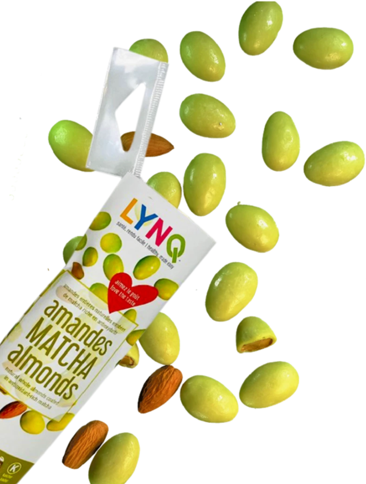 LYNQ Matcha Almonds 50g