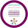 Raspberry Artisanal Sorbet by Chef Roland Del Monte and L'art Glacier 473ml