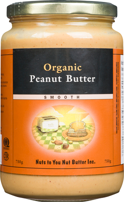 Organic Peanut Butter Smooth 750 by Nuts to You