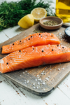 Fresh BC Organic King Salmon by Oysterblood 500g. Price adjusted according to actual weight. 51.99$/Kg