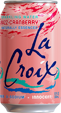 Razz Cranberry Sparkling Water by LaCroix, 8 cans