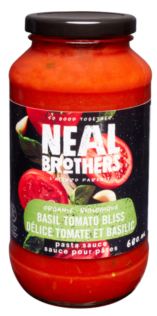 Organic Basil Tomato Bliss Pasta Sauce by NEAL Brothers 680 ml