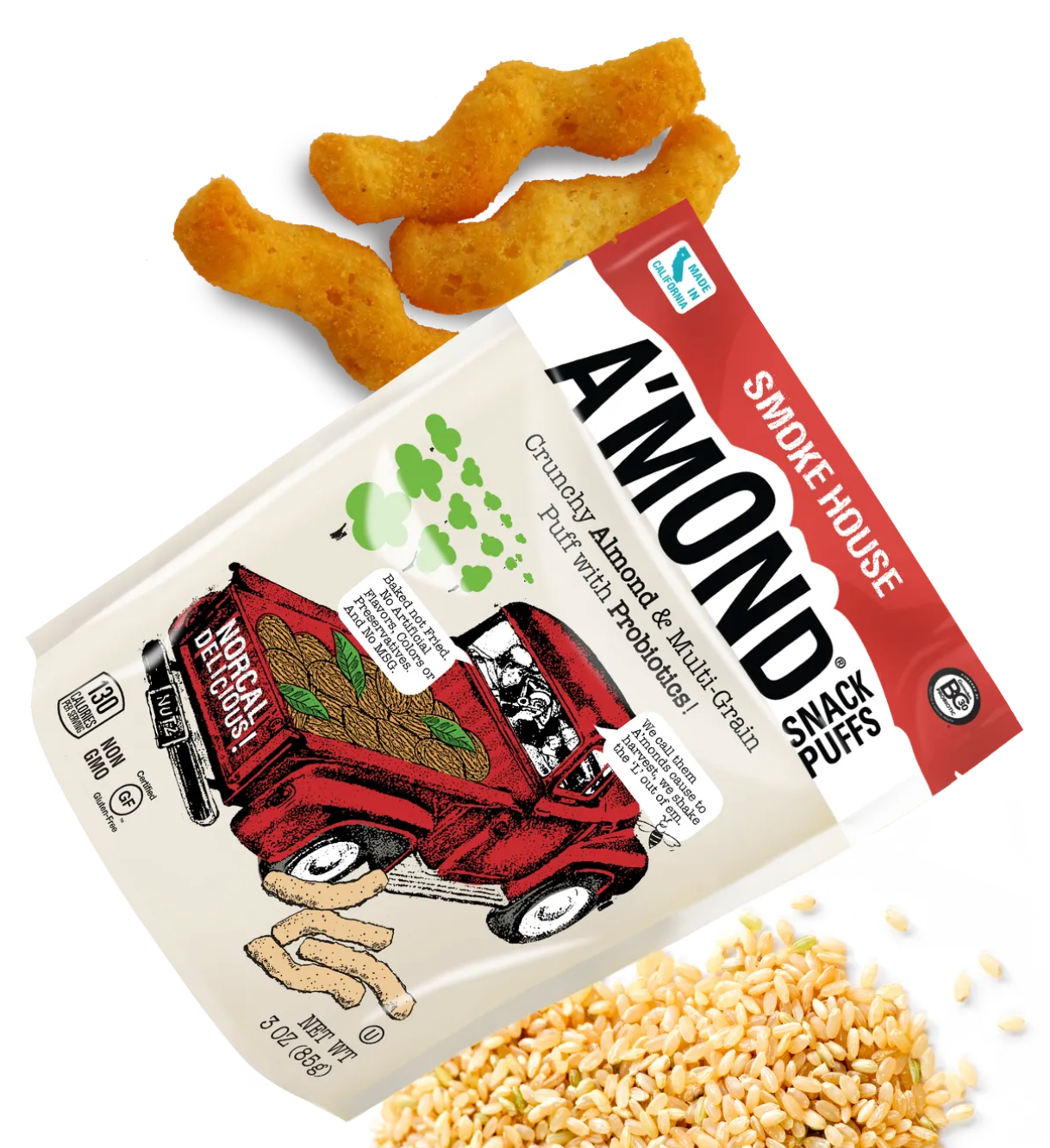Smokehouse Crunchy Almond Snack with Probiotics by A'mond 85g