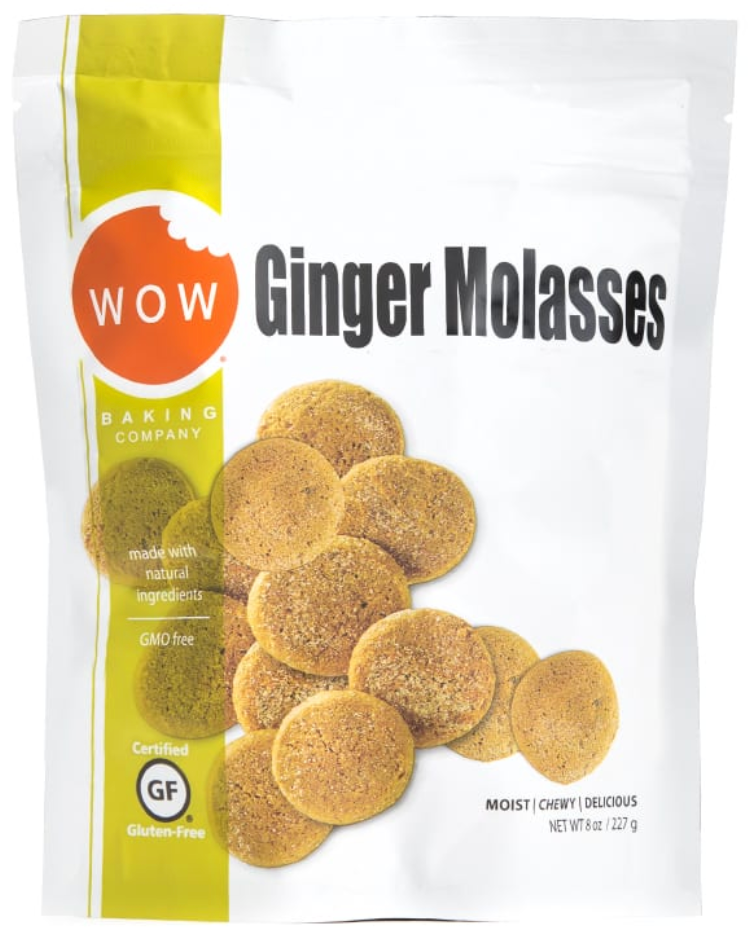 Ginger Molasses GMO free Gluten Free Cookies by WOW, 227g