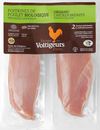 Fresh Organic Chicken Breast, 450g avg. $30.84/kg, from  Ferme Des Volitigeurs, Quebec. Price adjusted according to actual weight