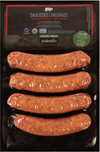 Frozen Organic Hot Italian Sausages by duBreton, 400g