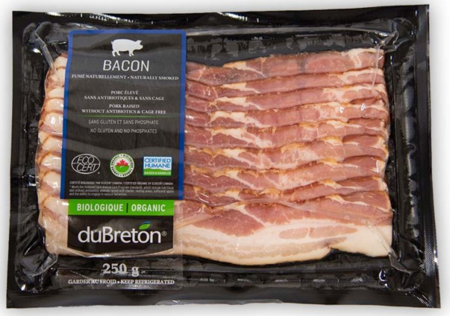 Fresh Organic Bacon 250g by duBreton