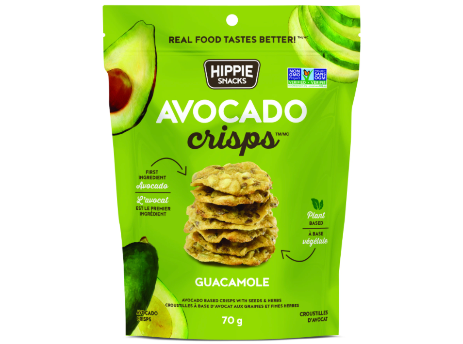 Guacamole Avocado Crisps by Hippie Snacks, 70g