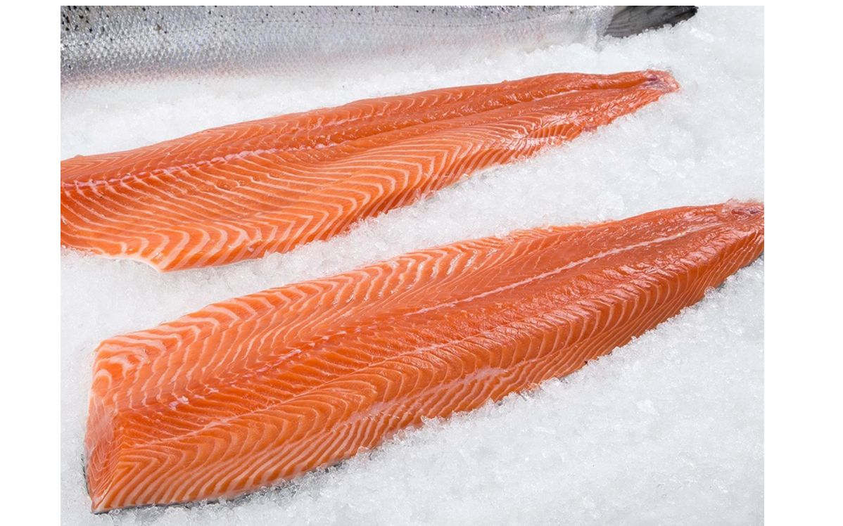 Frozen Antarctic Salmon, approx. 1.25Kg avg. 1 piece, $39.77$/Kg, Sustainable. Price adjusted according to actual weight