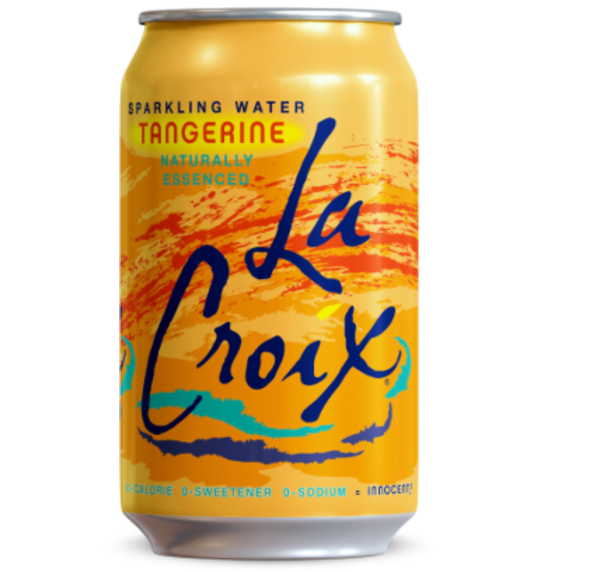 Tangerine Sparkling Water by LaCroix, 8 cans