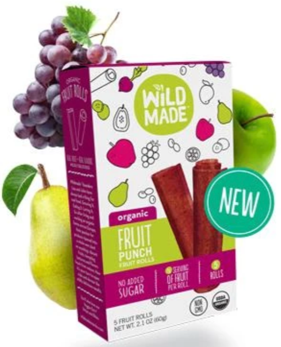 Fruit Punch Fruit Rolls by Wild Made, 5x12g