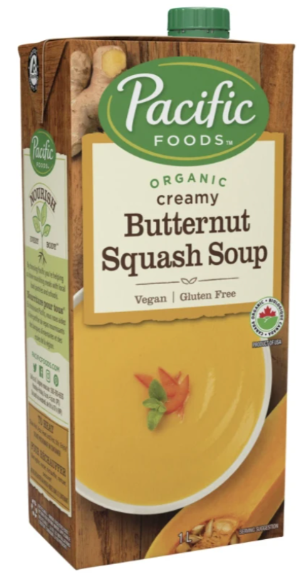 Butternut Squash Soup by Pacific Foods 1L Organic