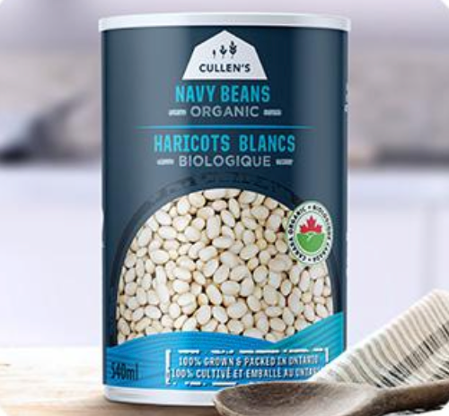 Ontario Organic Navy Beans by Cullen's 540ml