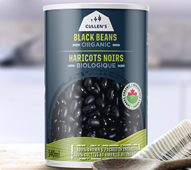 Black Turtle Ontario Organic Beans by Cullen's 540ml