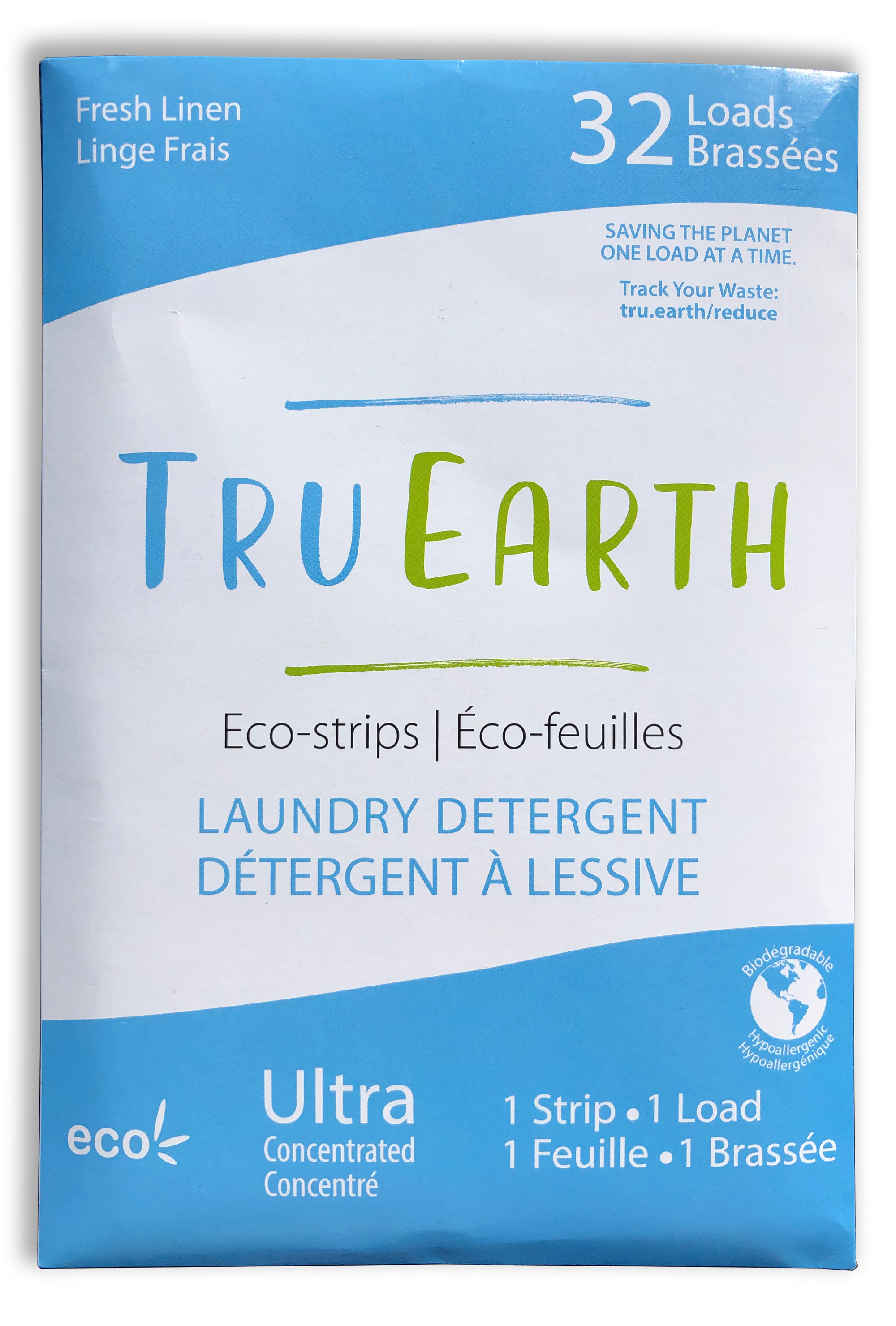 Laundry Detergent Eco-strips Fresh Linen 32 Loads by Tru Earth