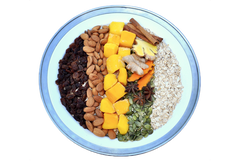 WELCOME - Sweet Spice-and-Mango-Oat Bowl | BIENVENUE - Bol de gruau épices douces et mangue
