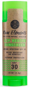Lip Rescue SPF 30 by Raw Elements 4.2g