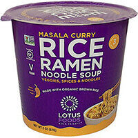 Masala Curry Rice Ramen Soup Cup by Lotus Foods 57g