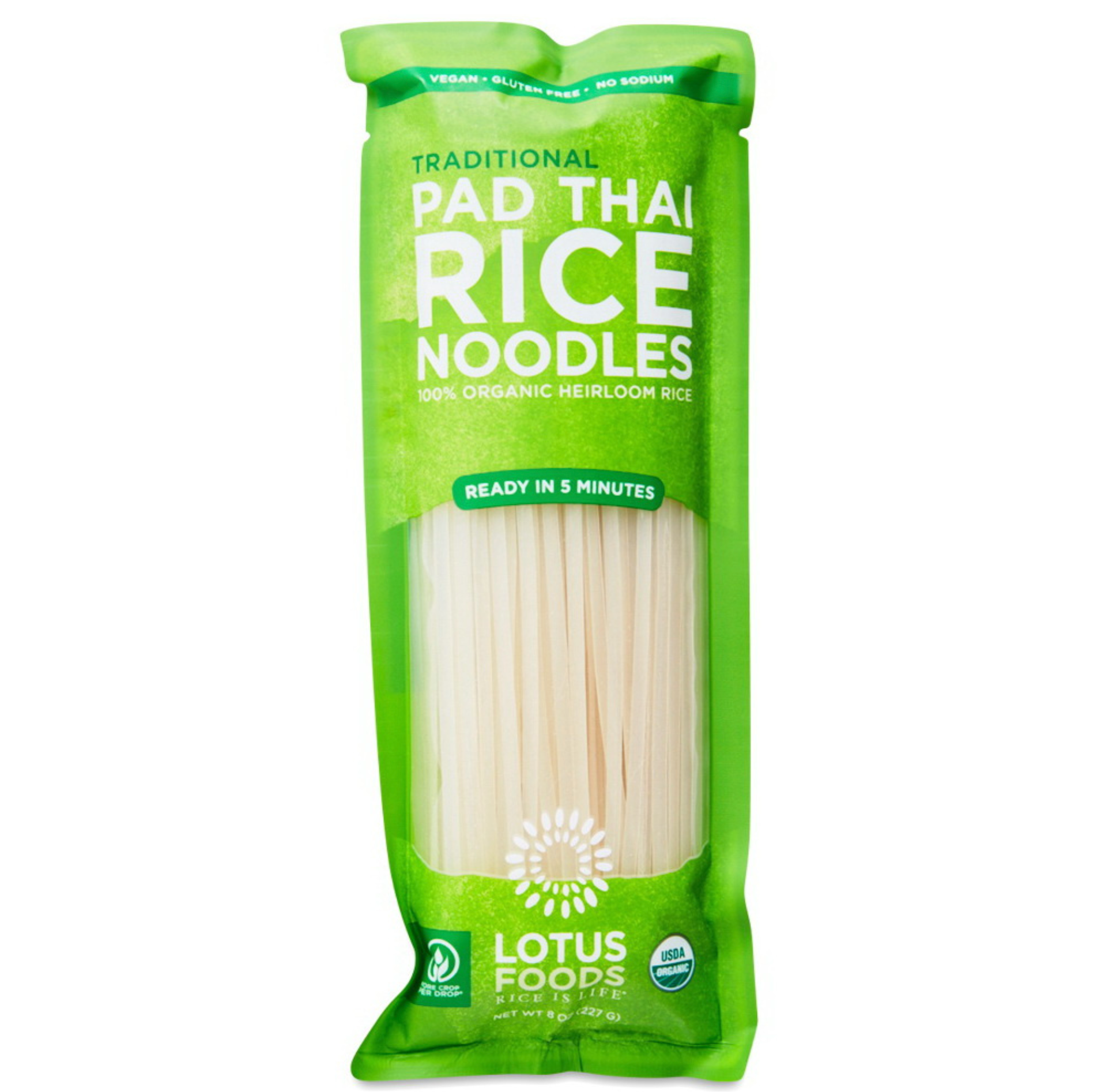 Pad Thai Heirloom Organic Rice Noodles by Lotus Foods