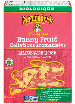 Organic Pink Lemonade Bunny Fruit Snacks by Annie's Homegrown 115g